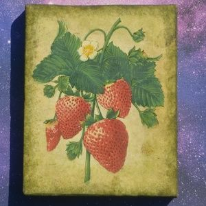 Other - Vintage Style Strawberry Canvas Wall Art Decor